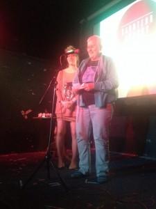 Katy Darby (Liars' League) and Cherry Potts (Arachne Press)