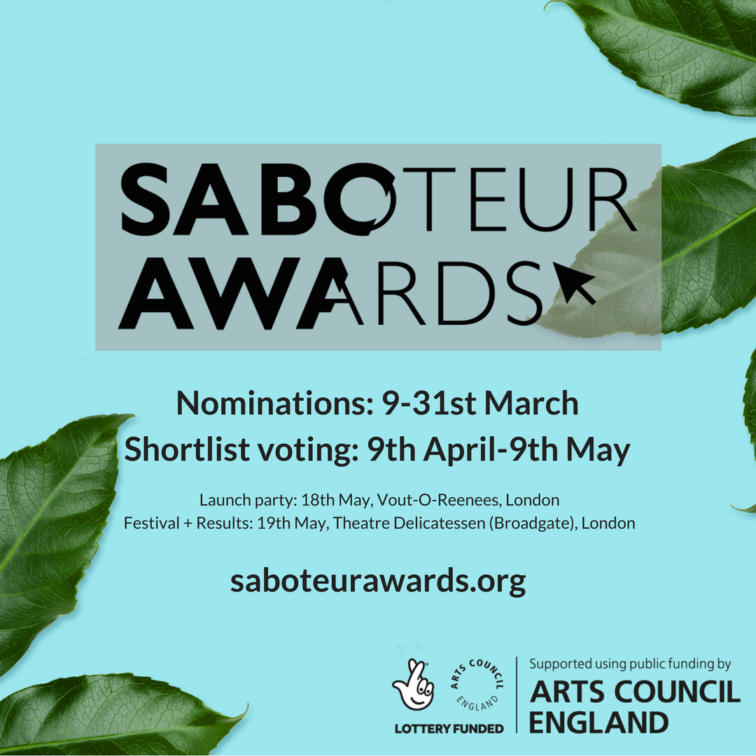 Nominations are open for the Saboteur Awards 2018!