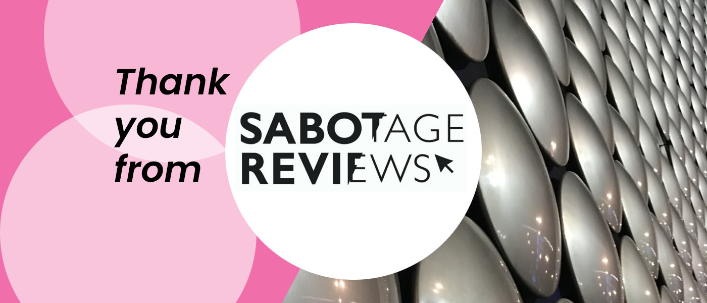 An open letter to Friends of Sabotage Reviews