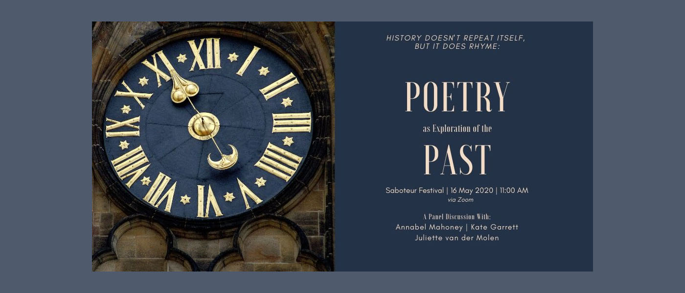 Poetry as Exploration of the Past – Saboteur Festival Panel 2020