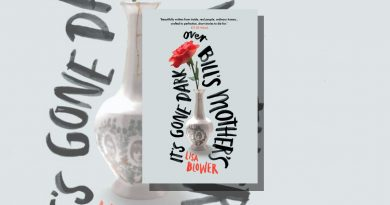 It's Gone Dark Over Bill's Mother's book cover with a flower in a vase