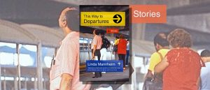 This Way to Departures book cover featuring passengers waiting on a station platform