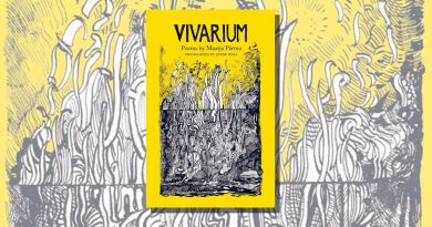 Vivarium yellow book cover with black and white illustration of plants