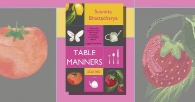 Table Manners book cover featuring illustrations of a tomato, a lemon, knives and forks