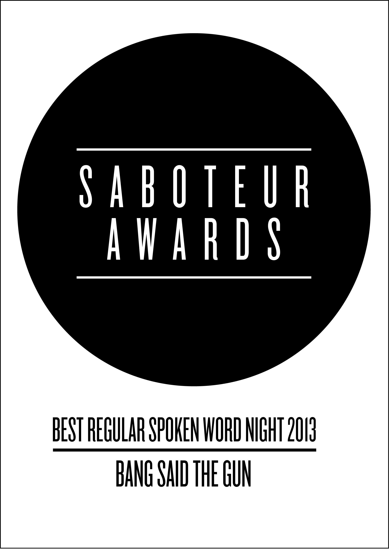 saboteur awards - regular spoken word night