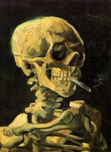 Van Gogh's 'Skull Of A Skeleton Wwith Burning  Cigarette'
