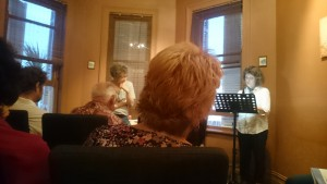 Patricia Schonstein reading at Off the Wall