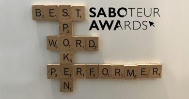 Saboteur Spotlight: Best Spoken Word Performer 2021, Luke Wright!