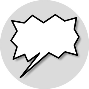 Sabotage speech bubble
