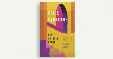 Paris Syndrome book cover featuring a yellow and pink archway and steps