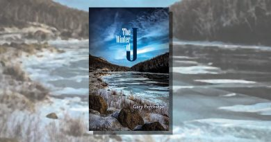 The Winter of J book cover featuring a watery landscape