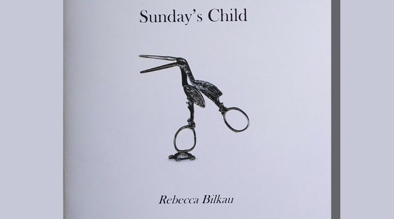 Sunday's Child pamphlet cover featuring an illustration of a scissors bird