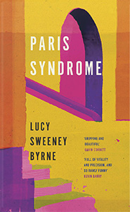 Paris Syndrome book cover with pink and yellow arches and steps