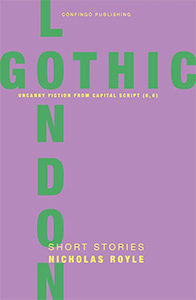London Gothic book cover with green text on a lilac background