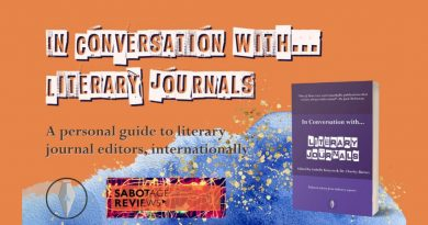 In Conversation with Literary Journals book cover against an orange background