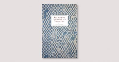 Re-Dreaming-Sylvia-Plath book cover with blue chequered pattern
